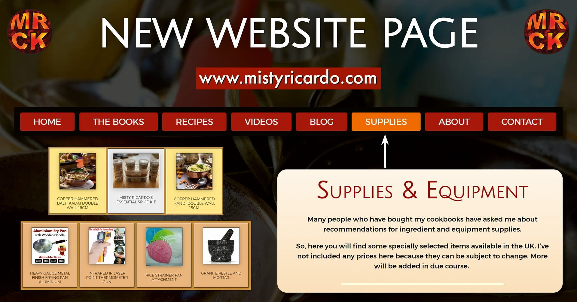 New Website Page Supplies