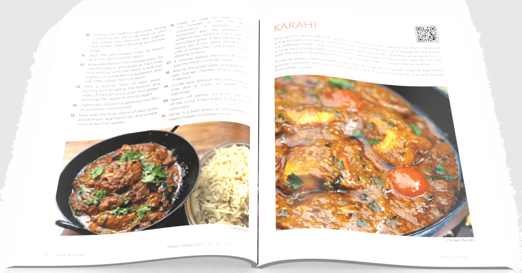 Indian Restaurant Curry at Home Volume 1 - Open Pages