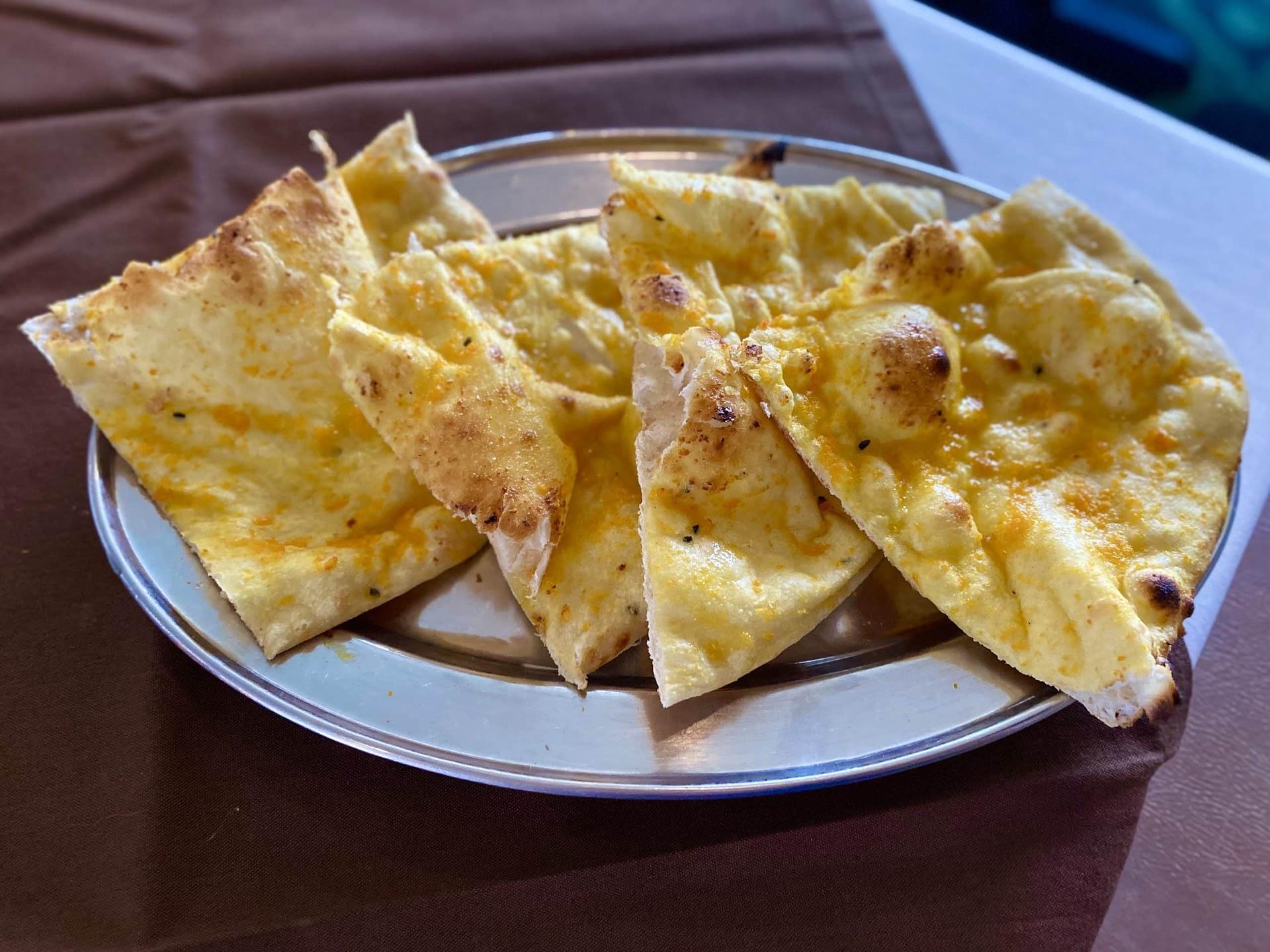 Garlic Naan at Bombay 8 Restaurant