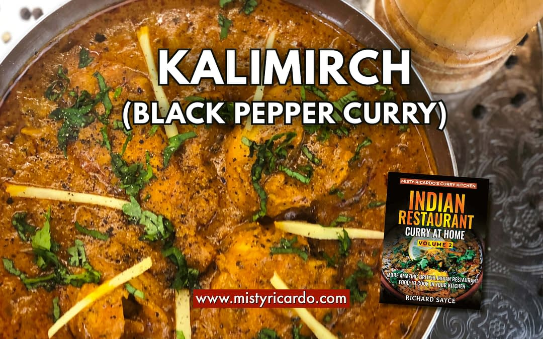 Kalimirch (Black Pepper) Curry Recipe