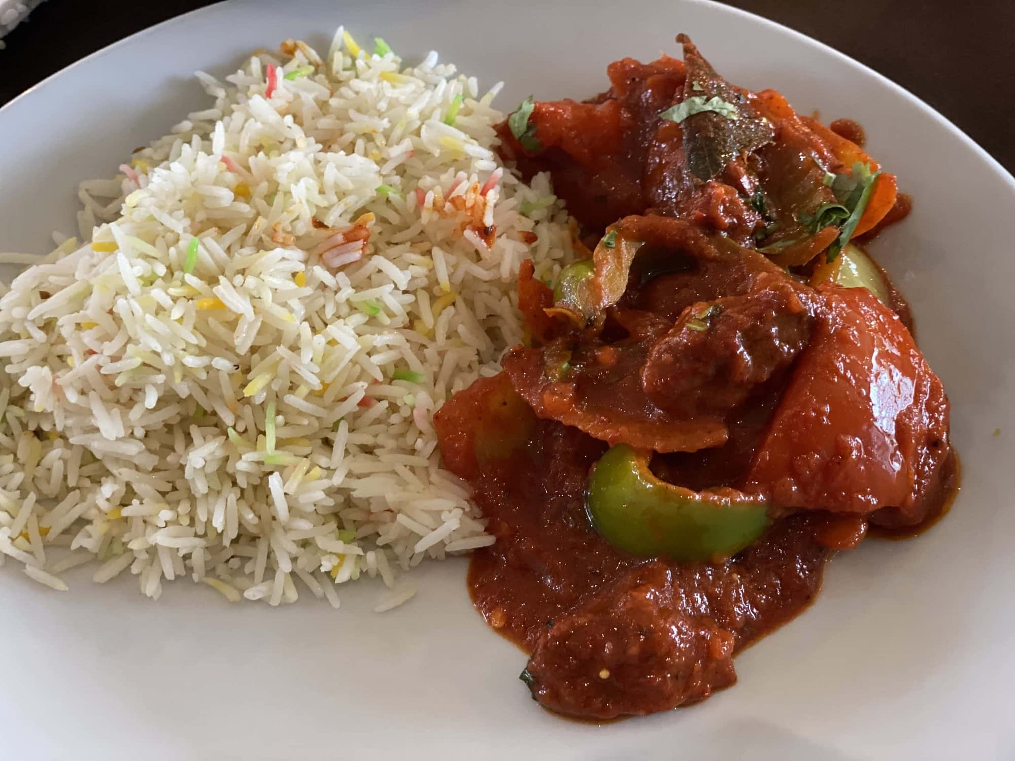 Lamb Balti & Pilau Rice at Bombay 8 Restaurant