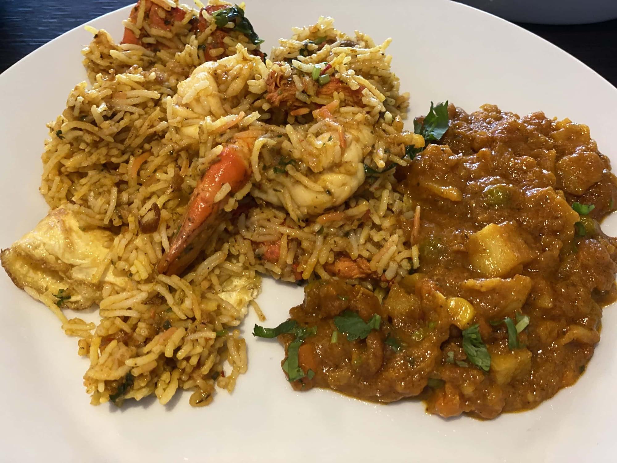 Rama Spice - Plated Biryani & Sauce