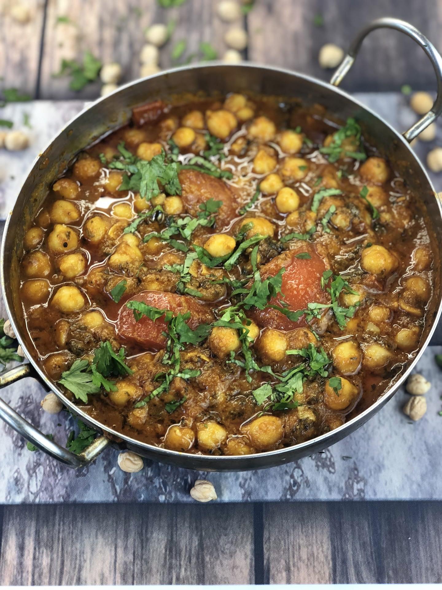 Vegetarian Chana Masala Chickpea Curry