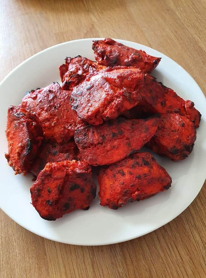 Chicken Tikka on Plate