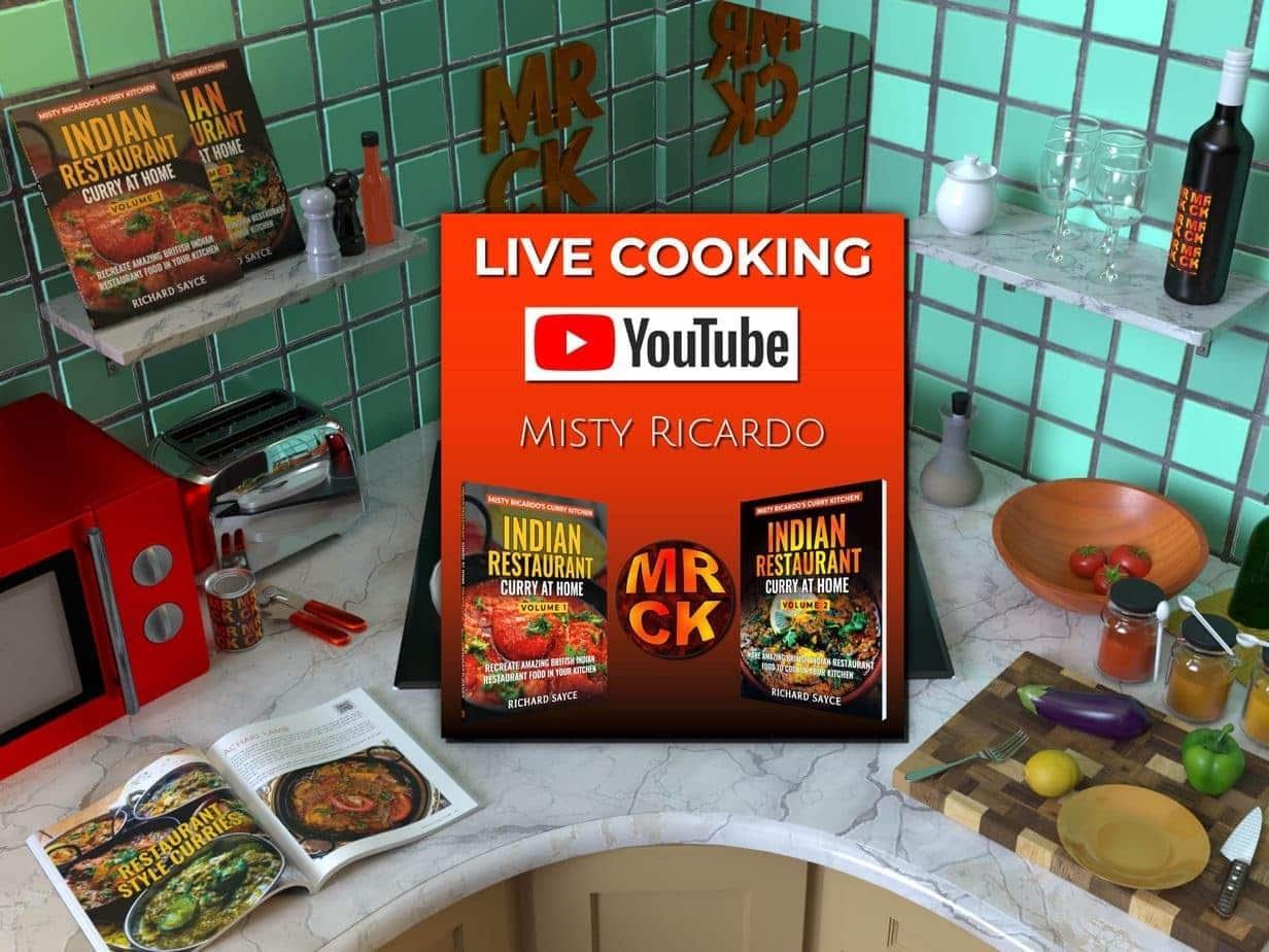 Live Cookalong YouTube Kitchen Scene