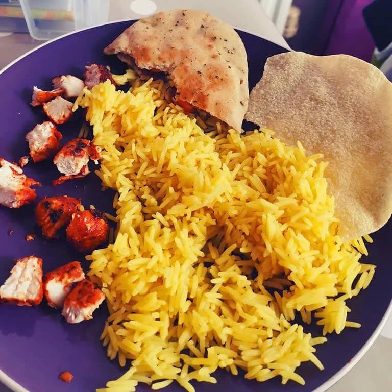 Chicken Tikka and Pilau Rice