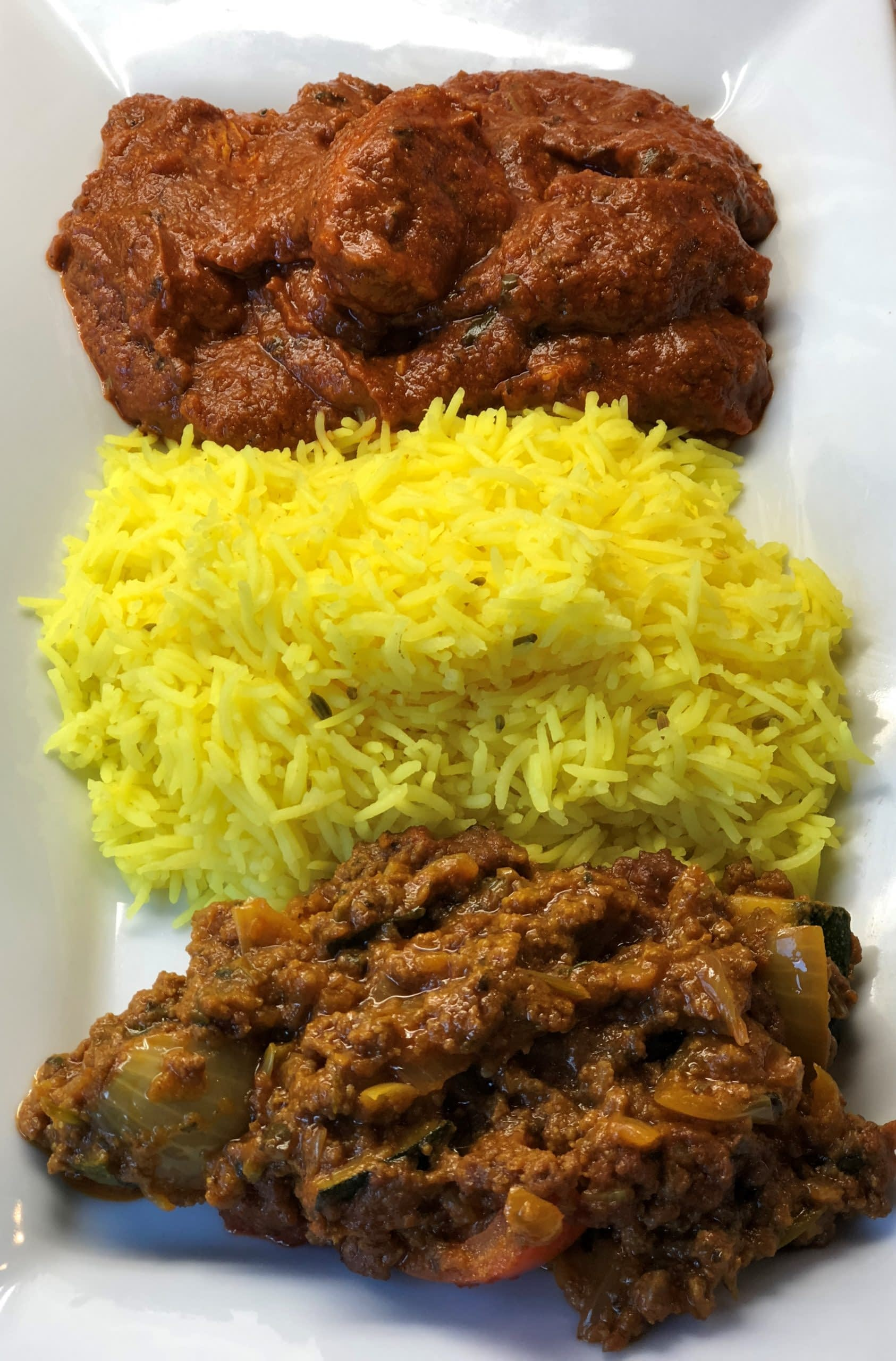 Pilau Rice with Curries