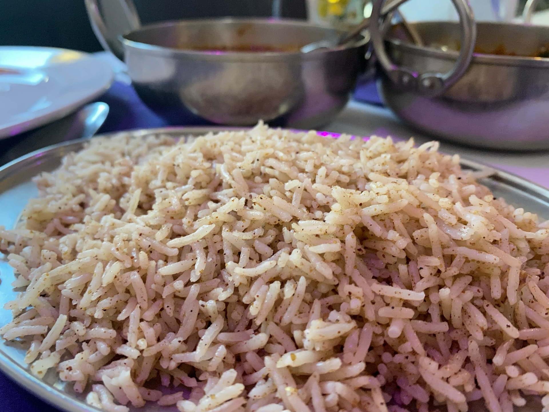 Pilau Rice at Raj of Indian, Holmfirth